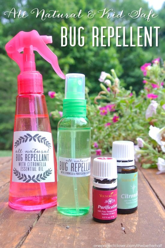 DIY Bug repellent with essential oils.