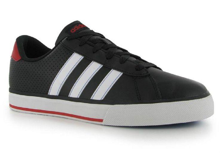Mens Adidas Trainers Neo SE Daily Leather Black White Red UK Size 7 EU 40.5  NEW | adidas | Pinterest