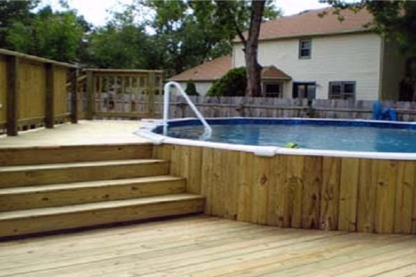 17 best ideas about above ground pool pumps on pinterest for Above ground pool decks home depot