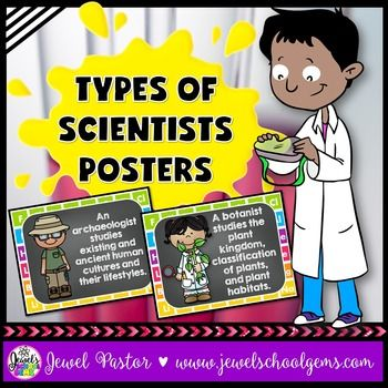 Introduce different types of scientists with these cute Types of Scientists…