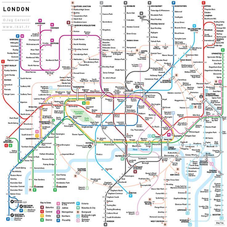 Enfin un plan de métro de Londres intelligible ;-)                              …