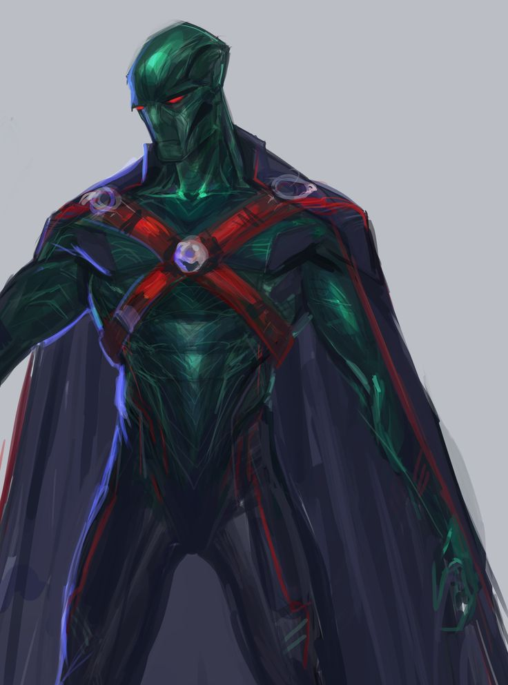 ArtStation - Martian Manhunter concept (wip), Rose Davies