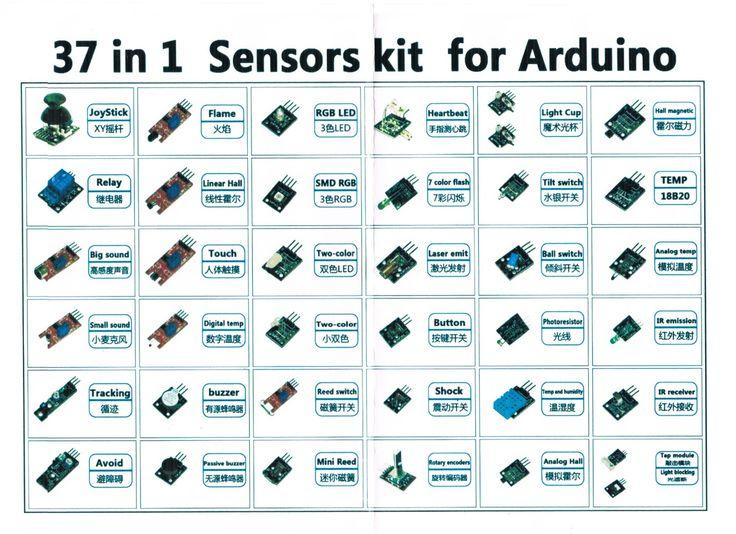 Arduino Sensor Kit: 37 Sensor Assortment