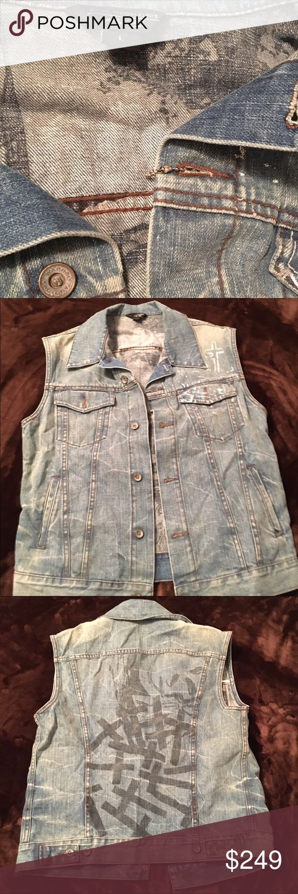 Levi's x Warhol Factory Denim Vest - 1/28 Sale! This Large Men's Levi's x Warhol Factory Denim Vest is super rare, and in like new condition. This is the only one I've ever seen. Cheers! Levi's Jeans