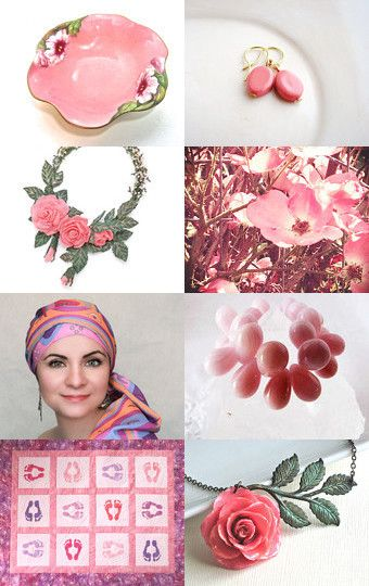 Spring Pinks by Mary Hopkins on Etsy--Pinned with TreasuryPin.com