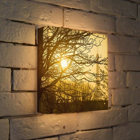 """Купить настенный 3D светильник """"Осенний туман"""" 25x25 см"""