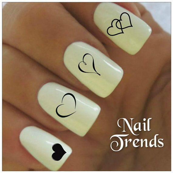 Heart Vinyl Nail Stickers, Nail Art Decals