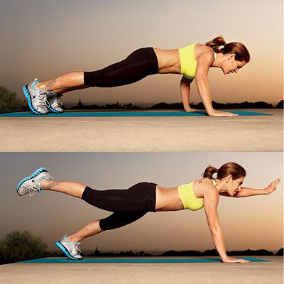 This is tough, but excellend for core strength! No more muffin top! Best core exercises