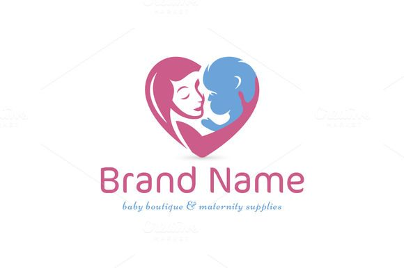 For sale. Only $29 - kids, mother, baby, heart, love, motherhood, care, hope, bond, childbirth, maternity, pink, blue, memorable, creative, modern, simple, elegant, children, newborn, woman, childcare, pregnancy, adoption, medical, charity, maternal, logo, design, template,