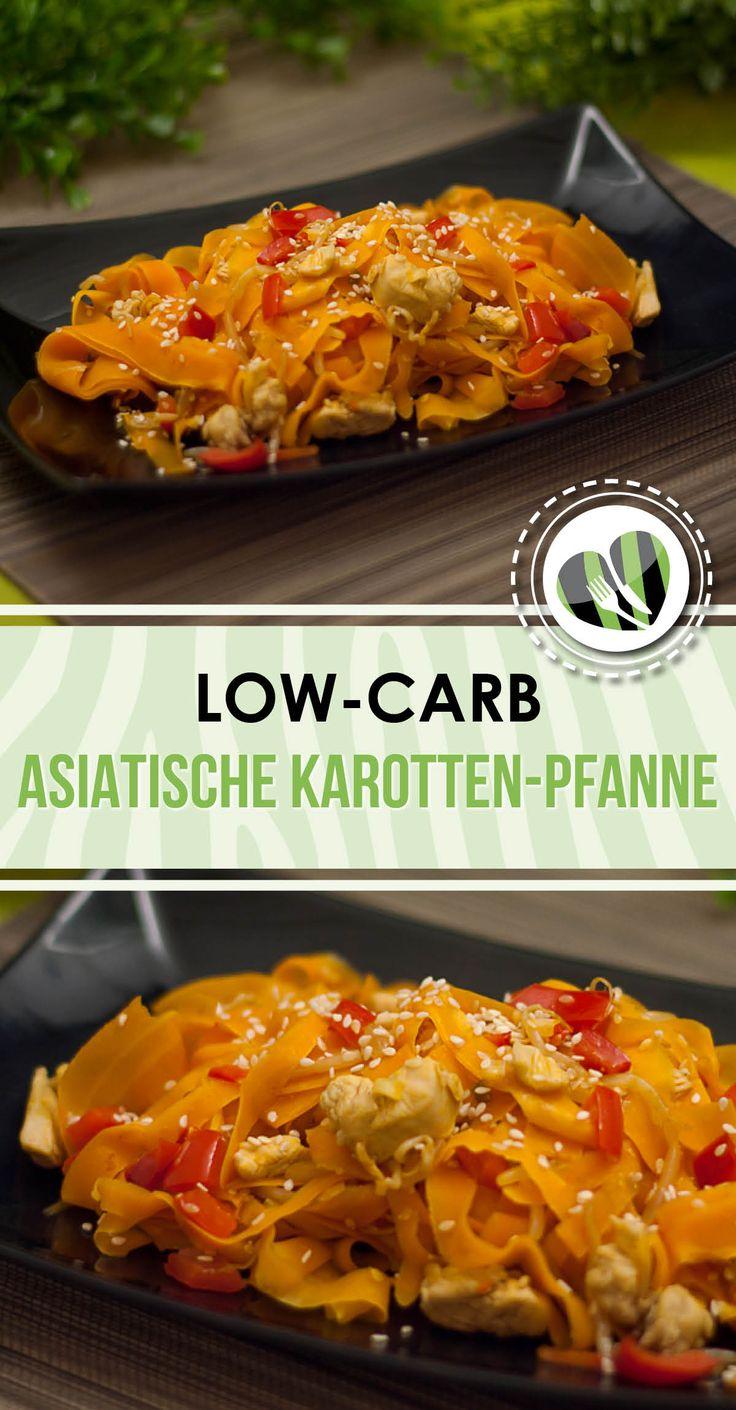 Die asiatische Karotten-Pfanne ist low-carb, einfach und super lecker. Zudem ist sie auch noch noch glutenfrei.