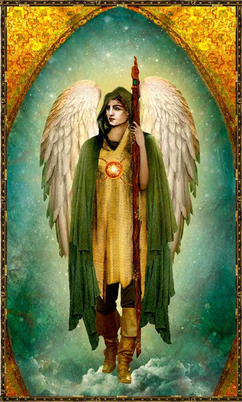 http://www.etsy.com/shop/Shabyas Archangel Raphael Holy Card by pocketfullofmiracles on Etsy, $6.30