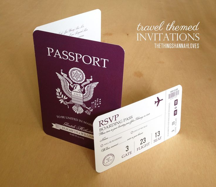 A Wedding Invitation And RSVP Card Themed As A Passport And Travel Card Are  So Unique.