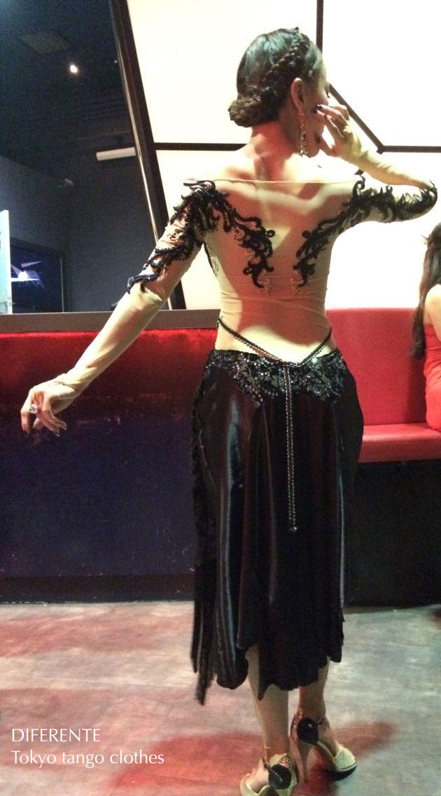 This black dress for tango dancer Ms.Alisa.