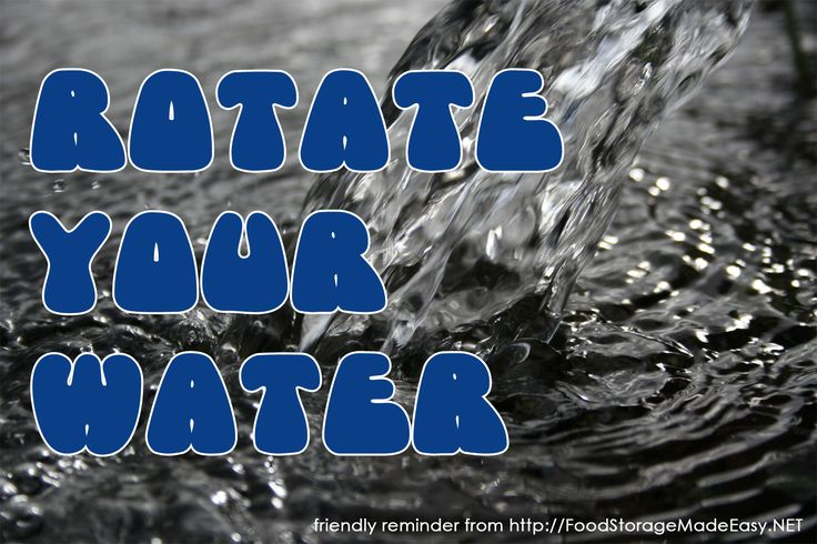 This is a perfect weekend to rotate your water storage. For tips on water rotation visit http://foodstoragemadeeasy.net/2012/03/12/all-about-water-rotation/