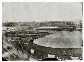 Sanger's Circus big top, around 1900 - the big top in Londonderry's day
