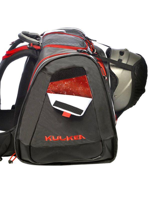 d0148f4b43 KULKEA Boot Trekker (70L) - Best Ski Boot Bag – Cool Grey Black Red.  Imitated but never equaled. The technically designed