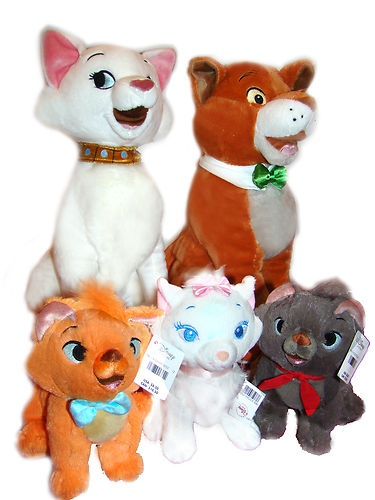 Disney's - The Aristocats... Thomas O'Malley,Toulouse.Berlioz, Marie, & Duchess