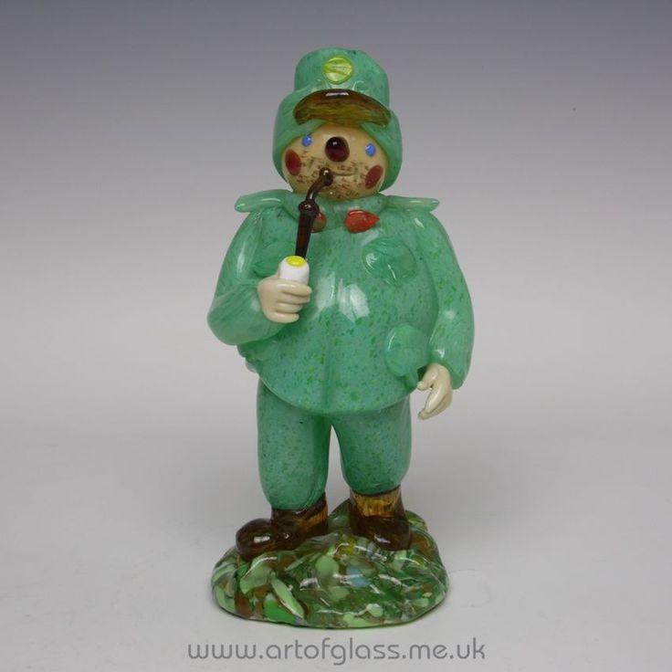 Zelezny Brod Sklo/ZBS Bohemian The Good Soldier Svejk glass figurine