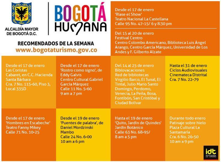 Eventos en Bogotá del 10 al 20 de enero 2013