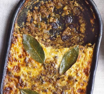 Bobotie - Pronounced ba-boor-tea, the national dish of South Africa is a delicious mixture of curried meat and fruit with a creamy golden topping, not dissimilar to moussaka
