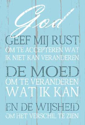 Wandbord - God geef mij de rust - 8717185065305