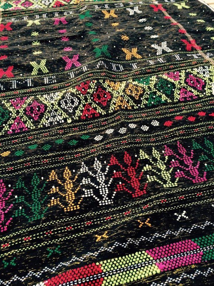 Ulos Glass Beaded Batik Rare Handwoven Textile Ceremonial Shawl #DameMadihita
