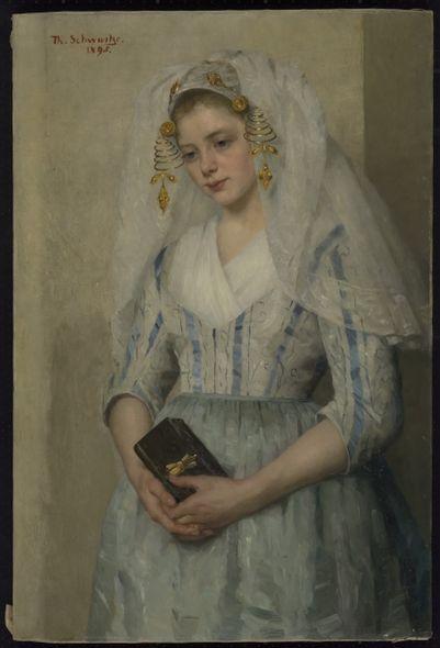 Thérèse Schwartze, Bruidje uit Oud-Beijerland, 1895 #HoekseWaard  #ZuidHolland