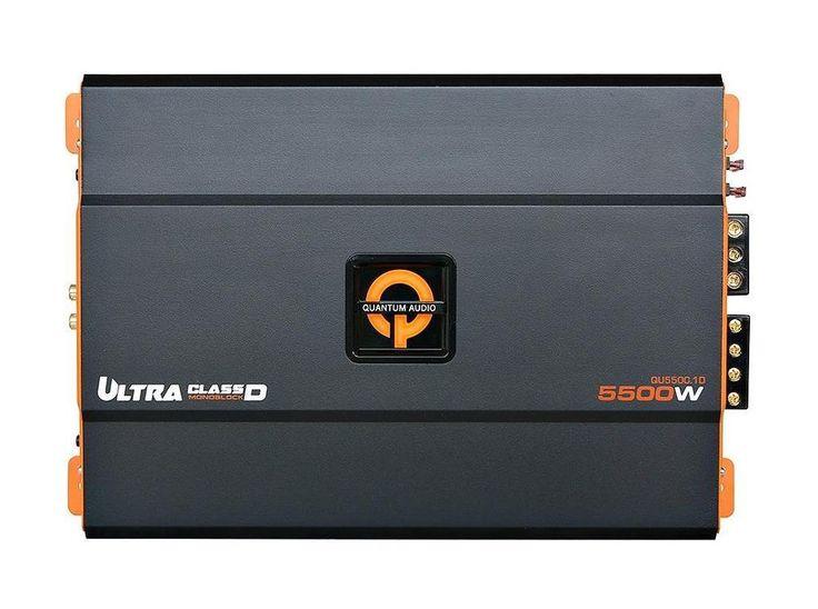 Quantum QU5500.1D 5500 W Max Class D Monoblock 1 Ohm Stereo Car Audio Amplifier…
