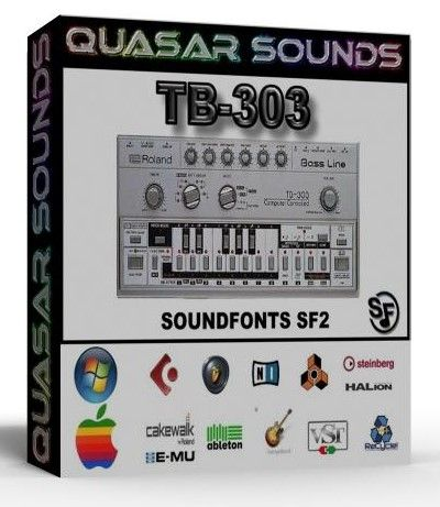 ROLAND TB-303 WAVE SAMPLES Kontakt Reason Logic Cubase