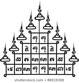 Ancien tatouage thaï. Modèle de vecteur   – Các địa điểm để ghé thăm