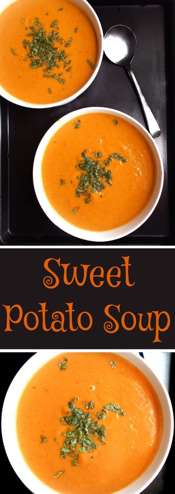 Easy sweet potato soup - packed with nutrients and flavor.