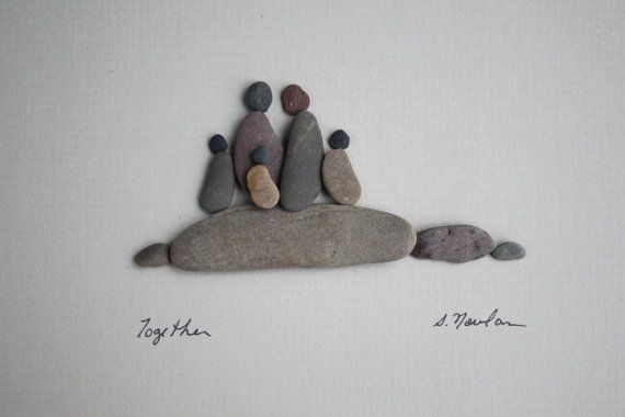 Together, Pebble Art of NS by Sharon Nowlan