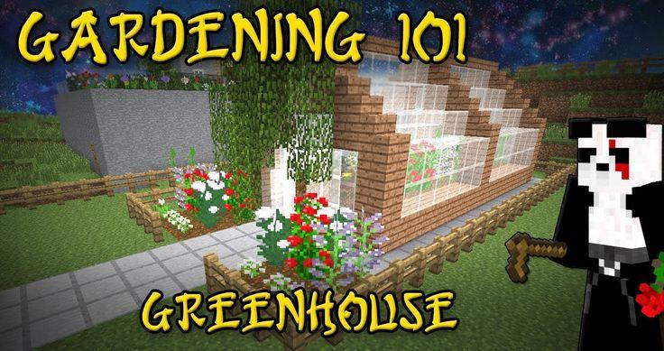 BUild a Minecraft Greenhouse-by TheBlackBeltPanda on youtube