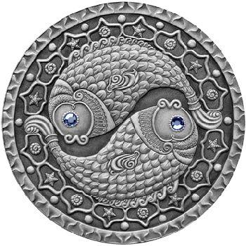 Belarus 2009 20 rubles Pisces UNC Silver Coin