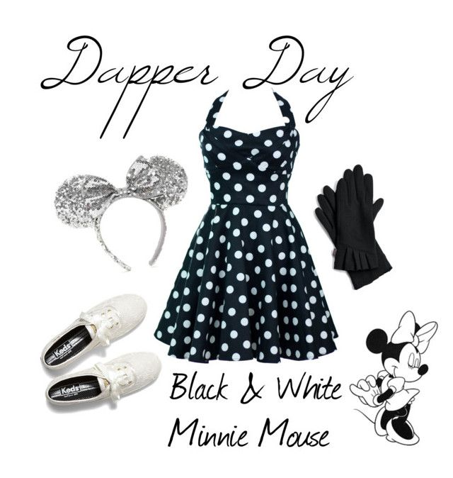 """""""Dapper Day - Minnie Mouse"""" by castlesandcupcakes ❤ liked on Polyvore featuring Disney, Keds and Echo"""