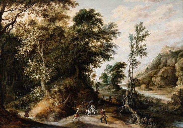 Alexander Keirincx (1600–1652) Öl auf Holz. 73 x 105 cm. 1630 bis 1639