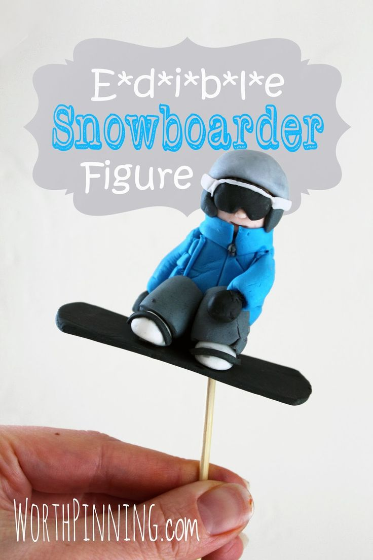 Worth Pinning: Edible Snowboarder Figure - Cake Topper