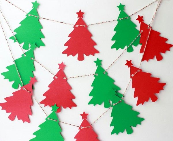 Guirlande de Noël sapin rouge et vert