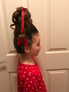 My Mommy Chatter: How to do Cindy Lou Who Hair