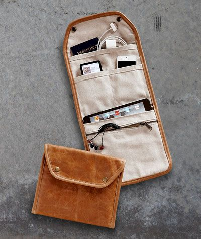 Gadget Carrier. A little more Indiana Jones and a little less metro looking and I would so buy one of these.