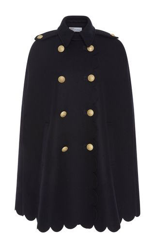 Scalloped Cape with Crest Buttons