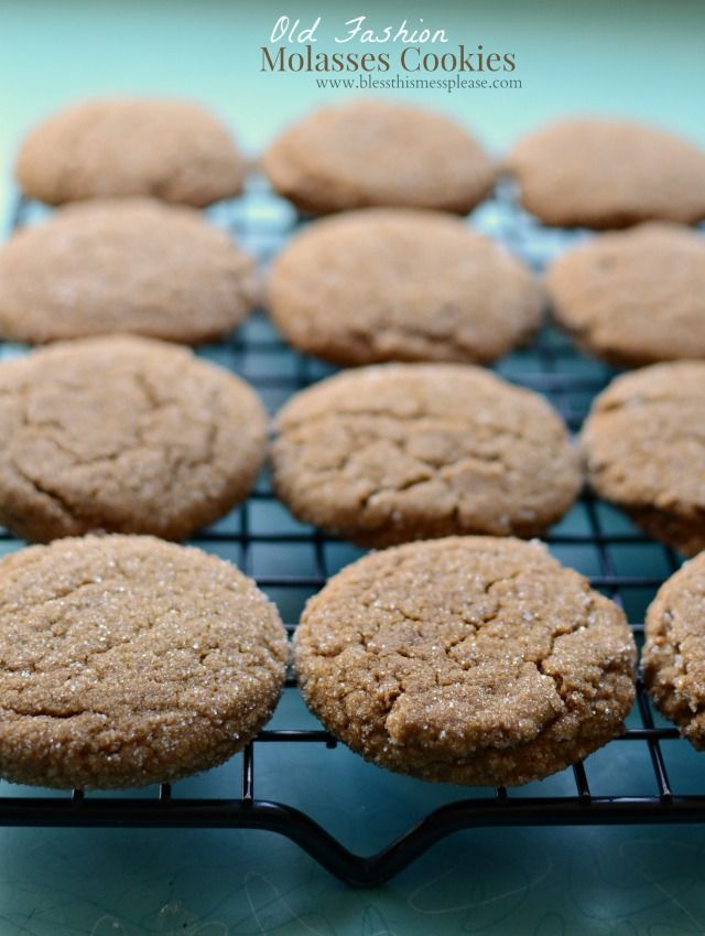 Old fashion molasses cookies are the best. Soft, chewy, lightly spiced, and pretty.