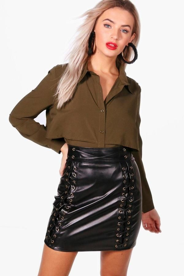 boohoo Willow Double Layer Military Shirt