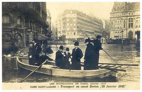 JANVIER 1910, DEVANT LA GARE ST-LAZARE…