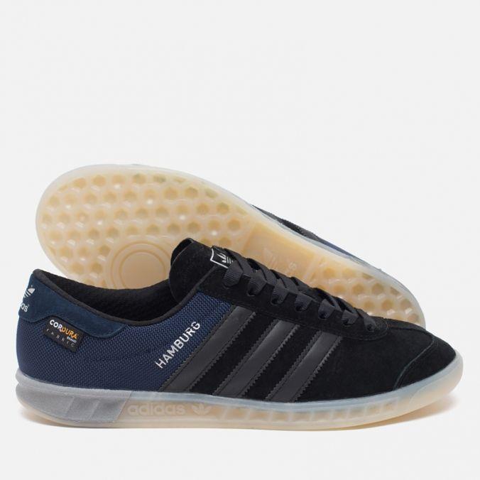 Мужские кроссовки adidas Originals Hamburg Tech Core Black/Chalk White фото-2