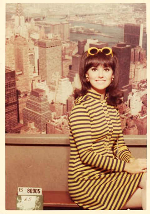 "Marlo Thomas as ""That Girl.""   As silly as the show seems now, in its time it was groundbreaking.  Ann Marie was the first single woman on network TV to live outside her parents home, and she had no desire to marry."