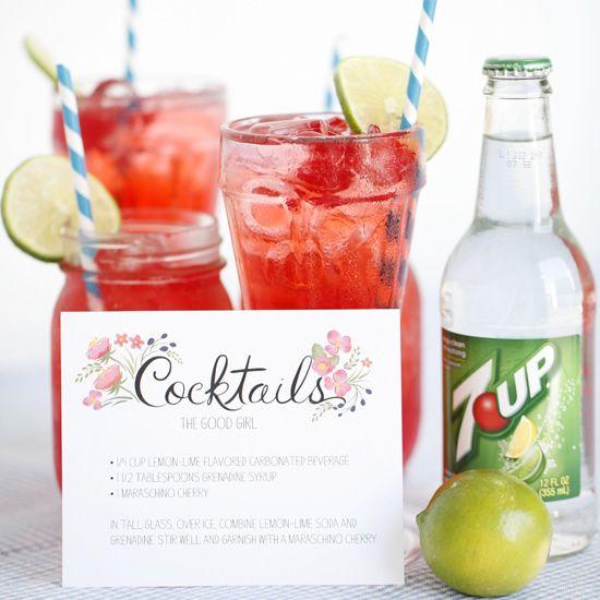 Free Cocktail Card Printable