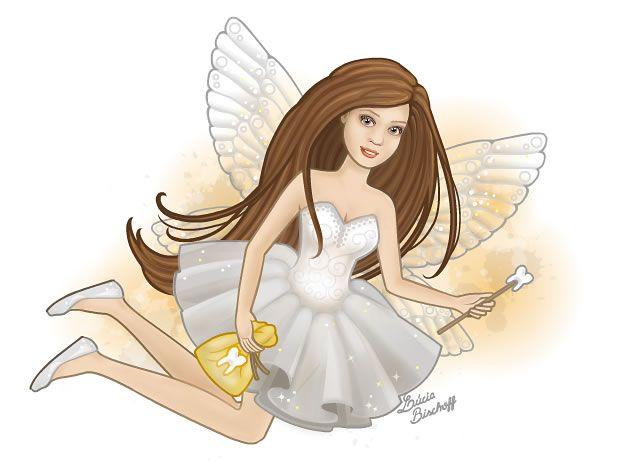 A História da Fada do Dente / The History of the Tooth Fairy: www.anjosnet.com.br/a-fada-do-dente/  Ilustração / Ilustration: Lúcia Bischoff.  #toothfairy #fairies #vectorillustration #fantasy #anjosnet