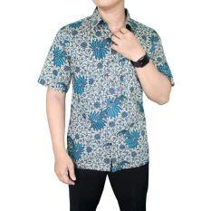 Gudang Fashion - Baju Batik Keren Pria - Hijau Krem