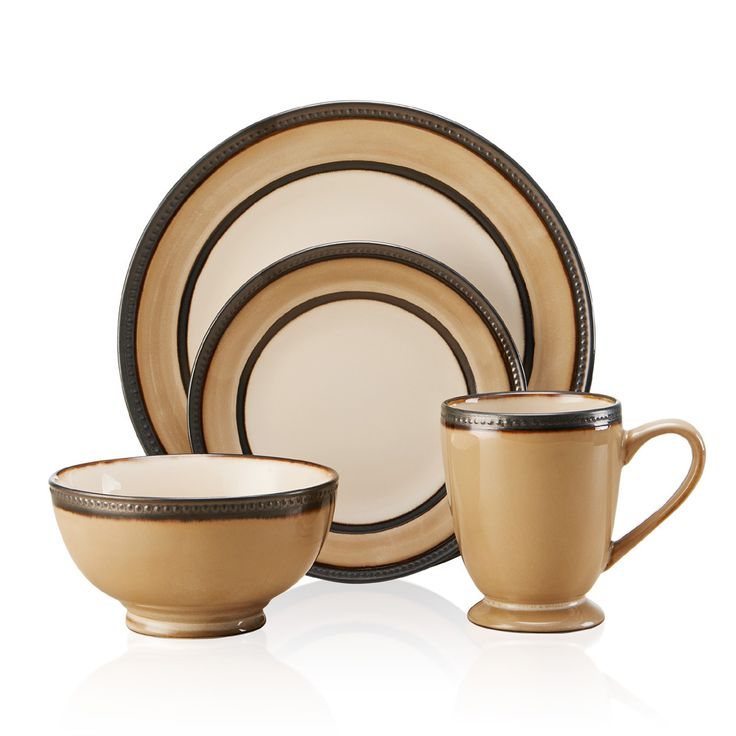 The lovely cream and white pattern of this dinnerware set will go with any of your home decor and give your table setting a truly elegant appearance. Make your next dinner party a stylish affair with this unique dinnerware set.